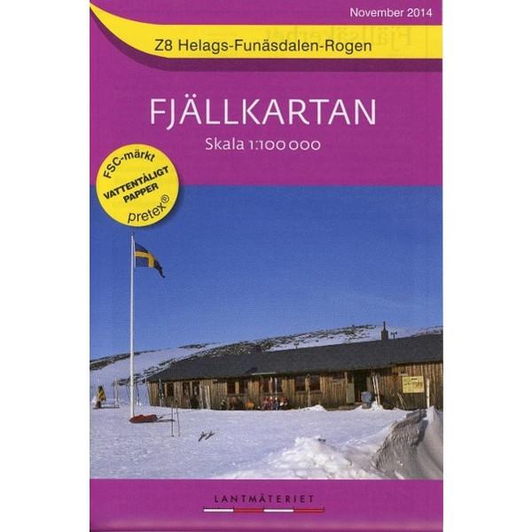 Fjällkartan 1 : 100 000 Z8 Helags - Funäsdalen - Rogen Bergwanderkarte - Wanderkarte