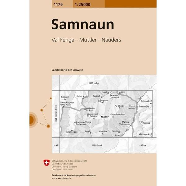 Swisstopo 1 : 25 000 Samnaun - Wanderkarte