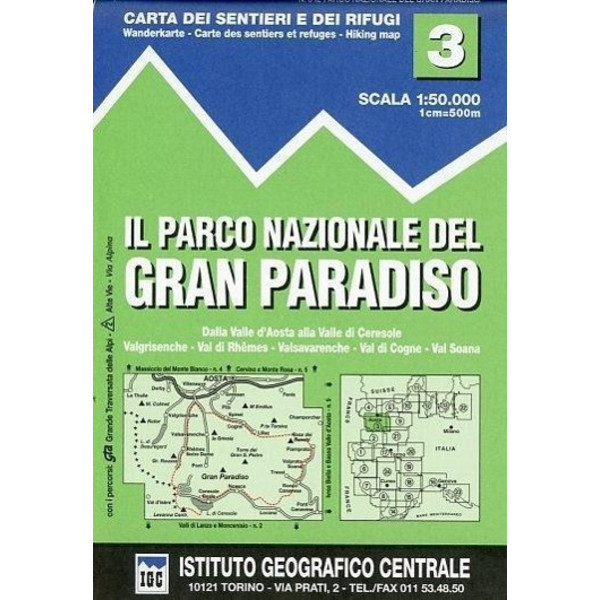 IGC Italien 1 : 50 000 Wanderkarte 03 Parco Nazionale de Gran Paradiso - Wanderkarte