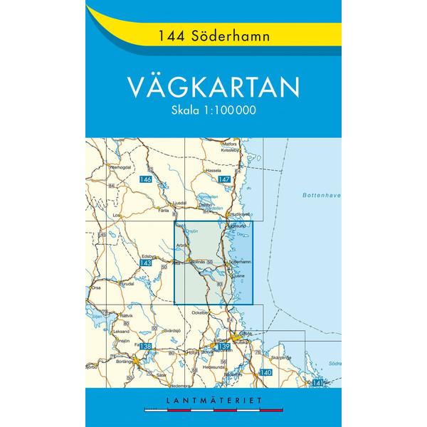 VÄGKARTAN 144 SÖDERHAMN - Straßenkarte