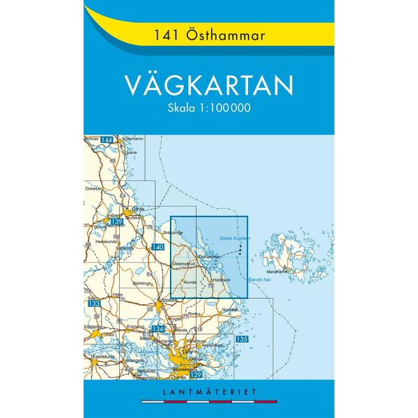 VÄGKARTAN 141 ÖSTHAMMER - Straßenkarte