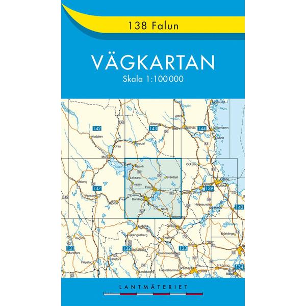 VÄGKARTAN 138 FALUN - Straßenkarte