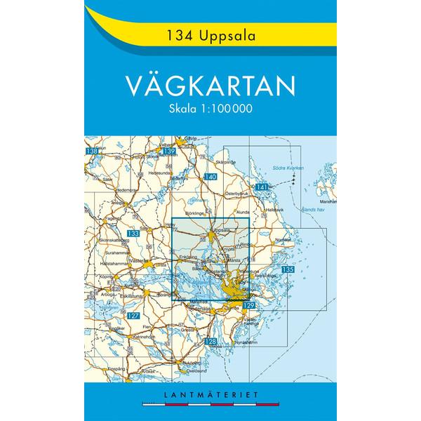 Uppsala - Straßenkarte