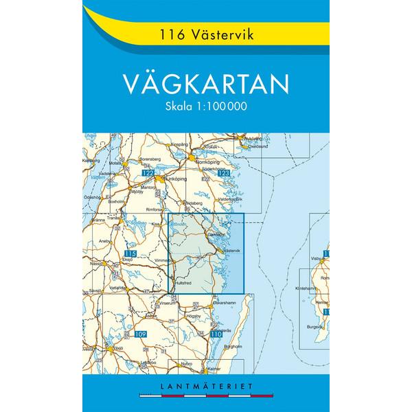 VÄGKARTAN 116 VÄSTERVIK - Straßenkarte