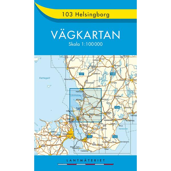 VÄGKARTAN 103 HELSINGBORG - Straßenkarte
