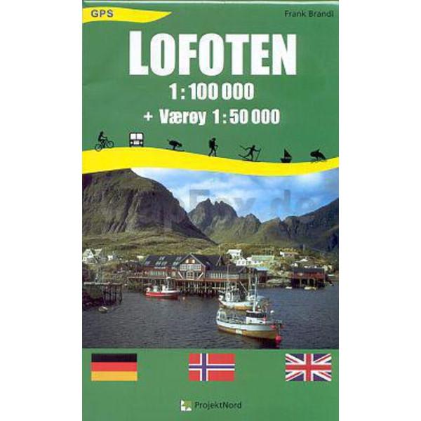 LOFOTEN 1 : 100 000 - Wanderkarte