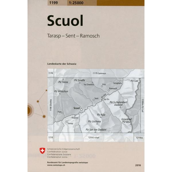 Swisstopo 1 : 25 000 Scuol - Wanderkarte