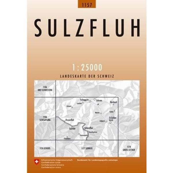 Swisstopo 1 : 25 000 Sulzfluh - Wanderkarte