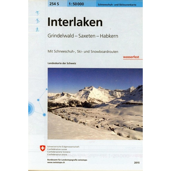 Swisstopo 1 : 50 000 Interlaken - Wanderkarte