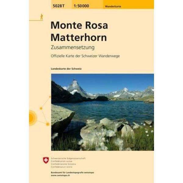 Swisstopo 1 : 50 000 Monte Rosa Matterhorn - Wanderkarte