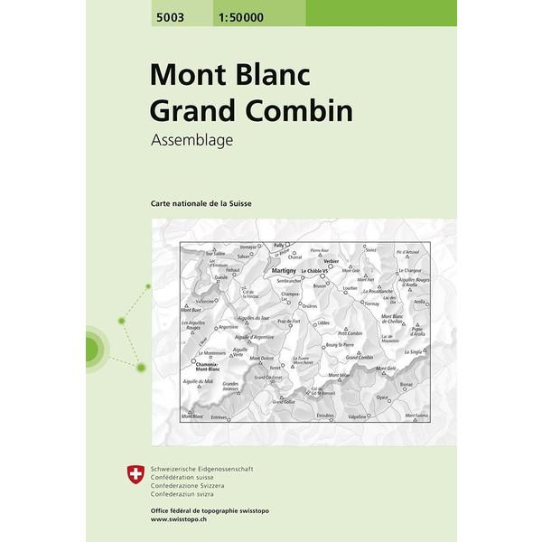 Swisstopo 1 : 50 000 Mont Blanc Grand Combin - Wanderkarte