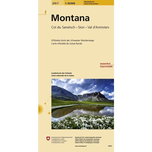 Swisstopo 1 : 50 000 Montana Wanderkarte - Wanderkarte