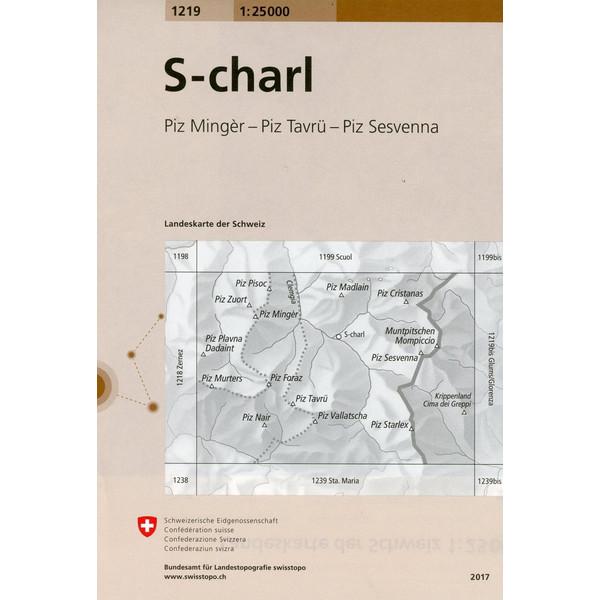 Swisstopo 1 : 25 000 S-charl - Wanderkarte