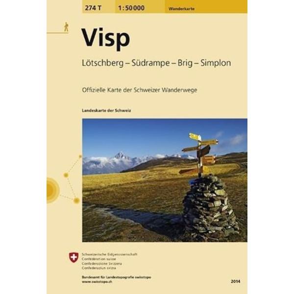 Swisstopo 1 : 50 000 Visp - Wanderkarte