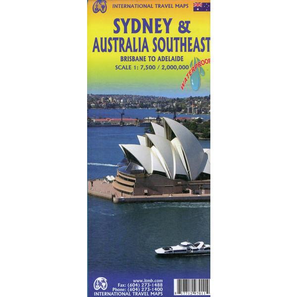 Stadtplan Sidney /Australia Southeast 1:7.500 / 2.000.000 - Stadtplan