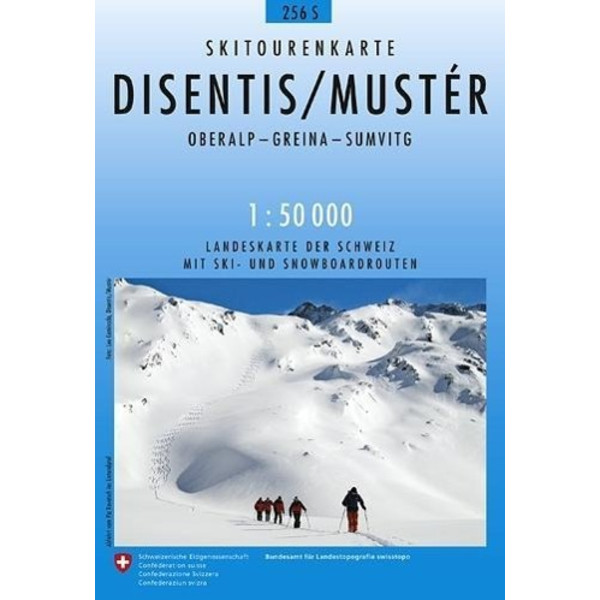 Swisstopo 1 : 50 000 Disentis / Mustér - Wanderkarte