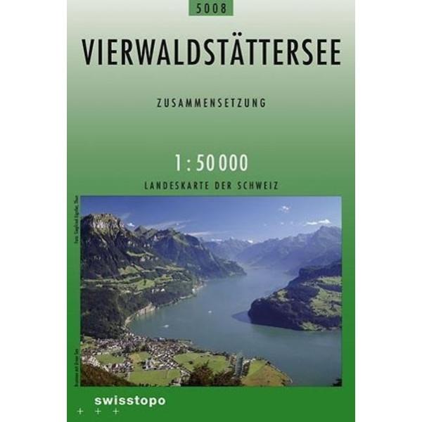 Swisstopo 1 : 50 000 Vierwaldstättersee - Wanderkarte