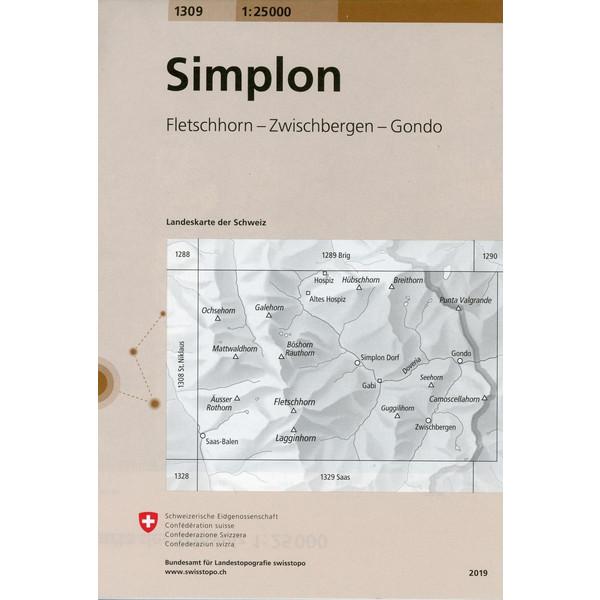 Swisstopo 1 : 25 000 Simplon - Wanderkarte