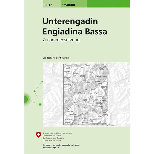 Swisstopo 1 : 50 000 Unterengadin Engiadina Bassa - Wanderkarte