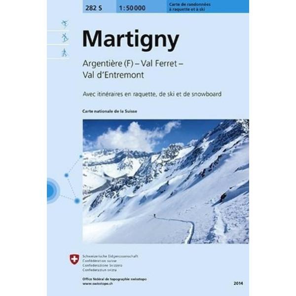 Swisstopo 1 : 50 000 Martigny Skiroutenkarte - Wanderkarte