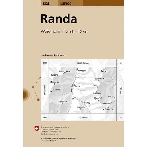 Swisstopo 1 : 25 000 Randa - Wanderkarte