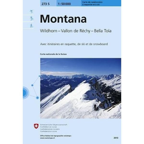 Swisstopo 1 : 50 000 Montana Ski - Wanderkarte