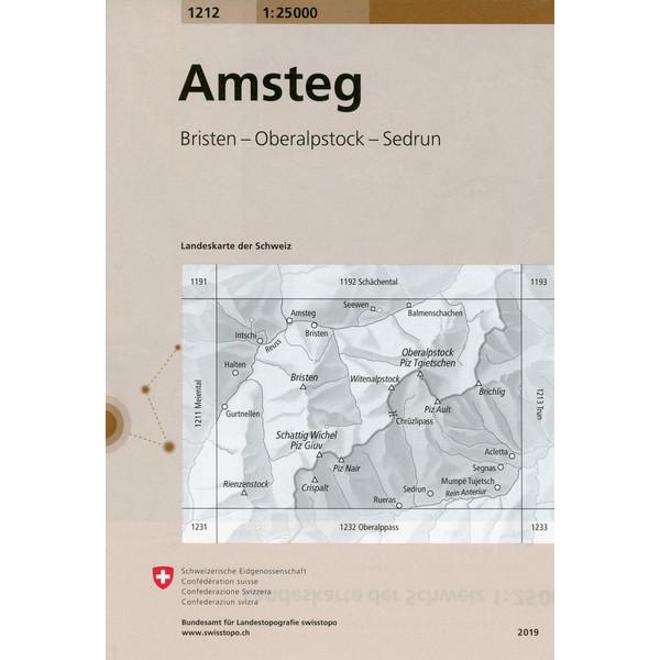 Swisstopo 1 : 25 000 Amsteg - Wanderkarte