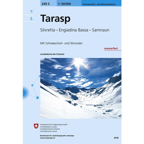 Swisstopo 1 : 50 000 Tarasp Ski - Wanderkarte