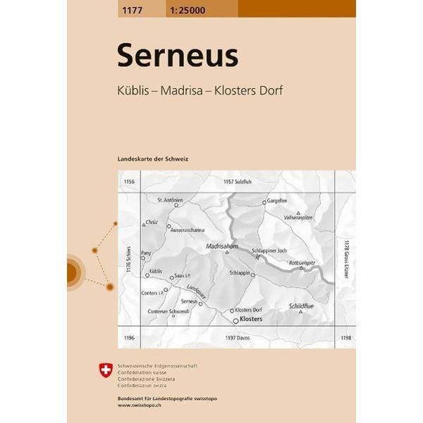 Swisstopo 1 : 25 000 Serneus - Wanderkarte