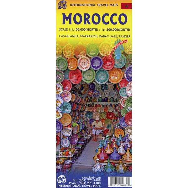 Marocco 1:1100000 - Straßenkarte