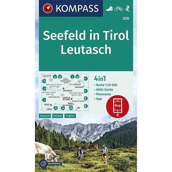 Seefeld in Tirol, Leutasch 1:25 000 - Wanderkarte