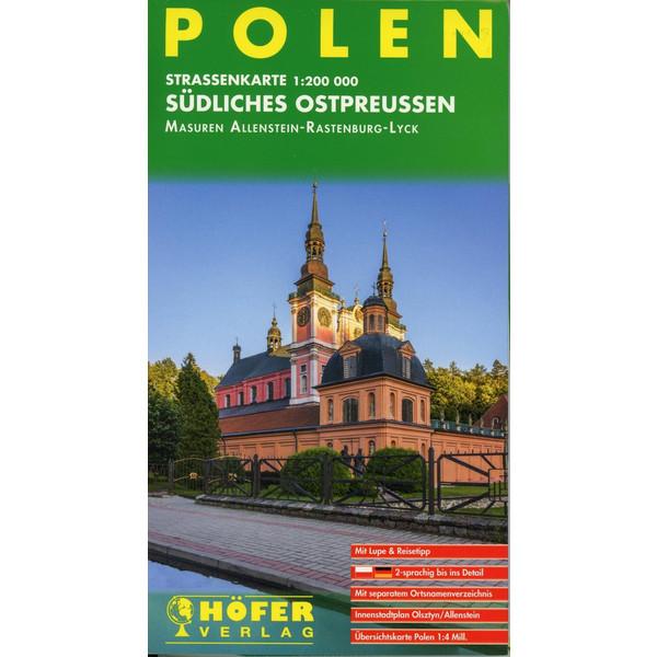 Höfer Polen PL010. Südliches Ostpreußen 1 : 200 000. - Straßenkarte