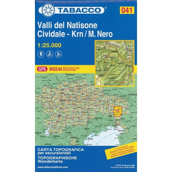 Tabacco Wandern 1 : 25 000 Valli del Natisone - Wanderkarte