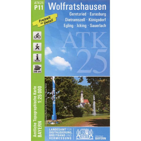 Wolfratshausen 1 : 25.000 - Wanderkarte
