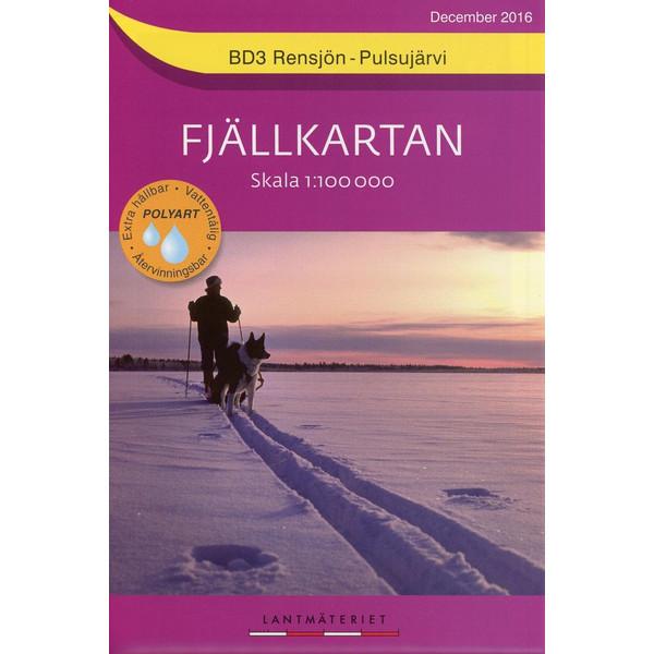 Fjällkartan 1 : 100 000 BD3 Rensjön - Pulsujärvi Bergwanderkarte - Wanderkarte