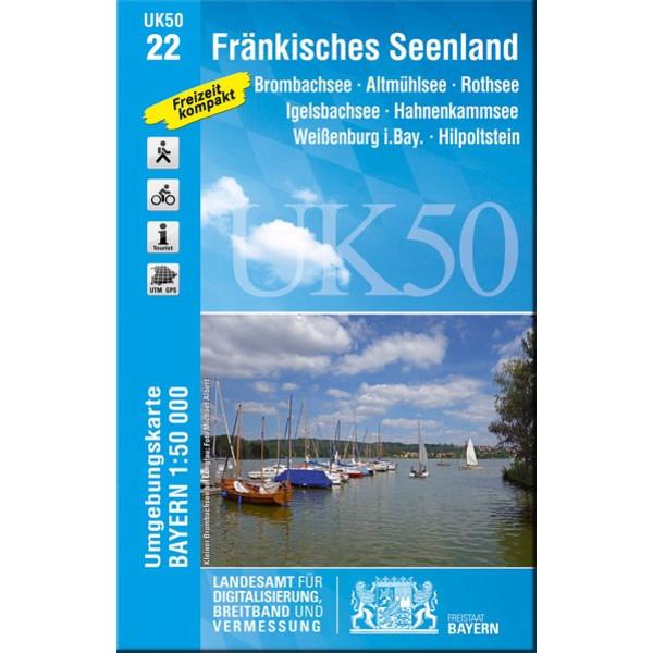 Fränkisches Seenland 1 : 50.000 (UK50-22) - Wanderkarte