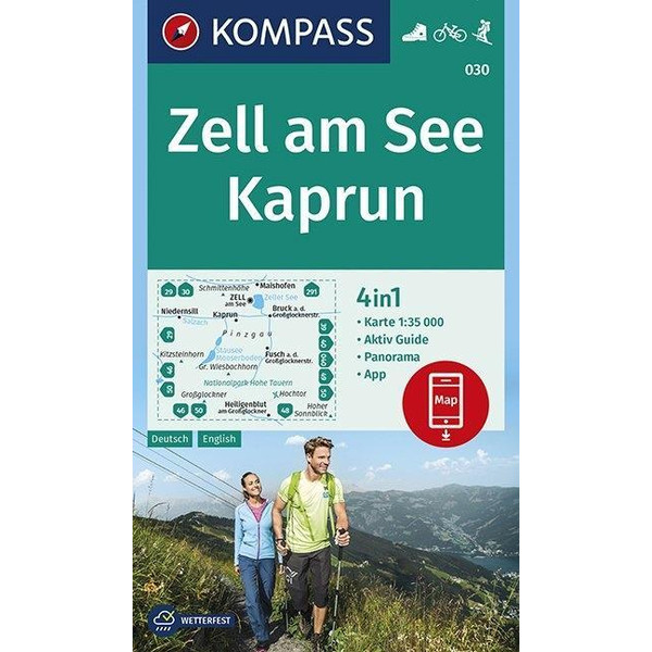 Zell am See, Kaprun 1:35 000 - Wanderkarte