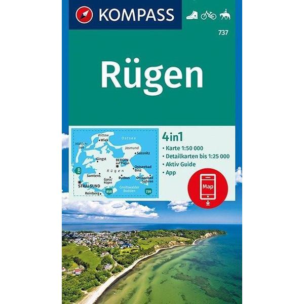 Rügen 1:50 000 - Wanderkarte