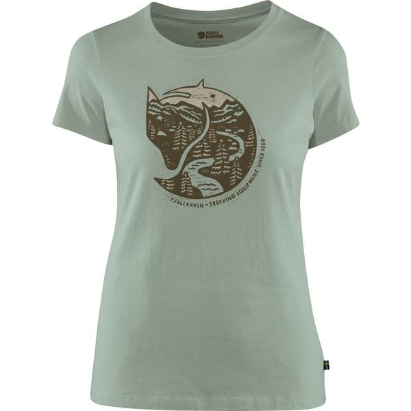Fjällräven ARCTIC FOX PRINT T-SHIRT W Frauen - T-Shirt