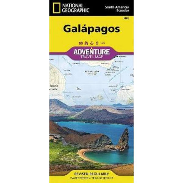 Galapagos - Wanderkarte