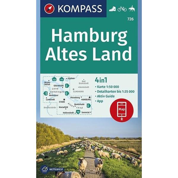 KOMPASS Wanderkarte Hamburg, Altes Land 1:50 000 - Wanderkarte