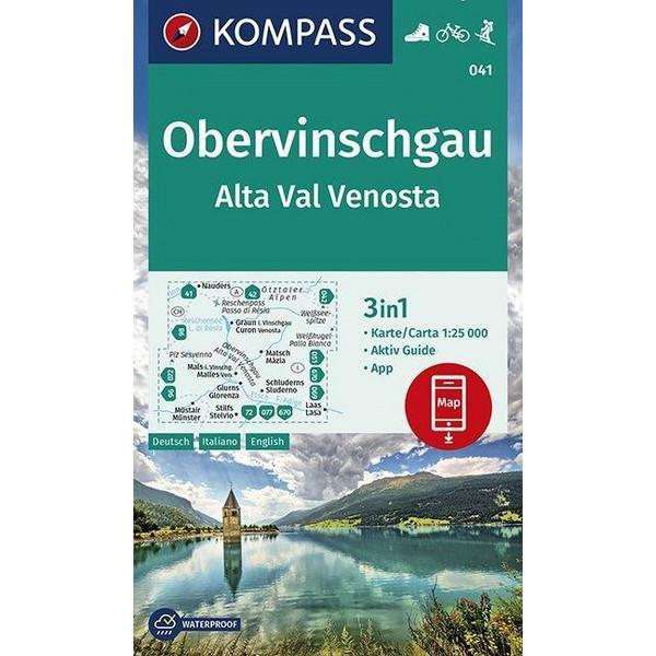 KOMPASS Wanderkarte Obervinschgau, Alta Val Venosta 1:25 000 - Wanderkarte