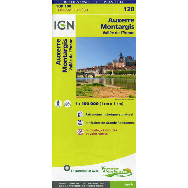 Auxerre Montargis 1:100 000 - Wanderkarte