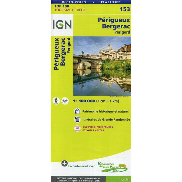 Périgueux Bergerac 1:100 000 - Wanderkarte