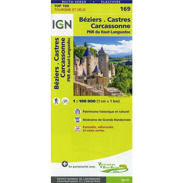 Béziers.Castres.Carcassonne 1:100 000 - Wanderkarte