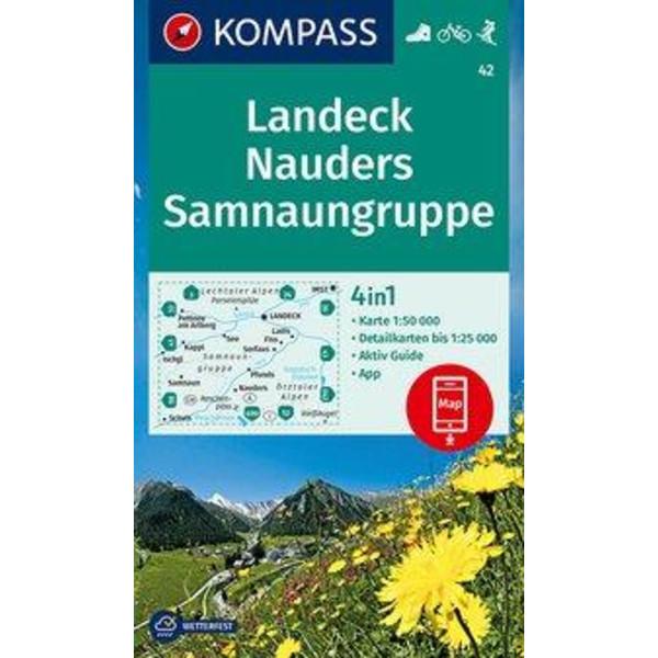 Landeck, Nauders, Samnaungruppe 1:50 000 - Wanderkarte
