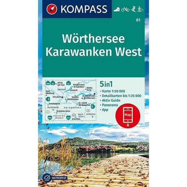 Wörthersee, Karawanken West 1:50 000 - Wanderkarte