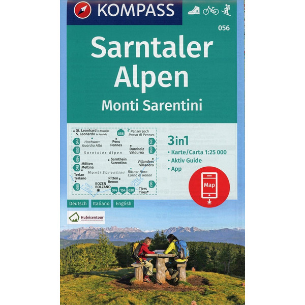 Sarntaler Alpen, Monti Sarentini 1:25 000 - Wanderkarte
