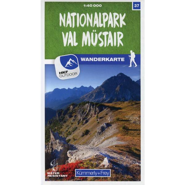 Nationalpark - Val Müstair 37 Wanderkarte 1:40 000 matt laminiert - Wanderkarte