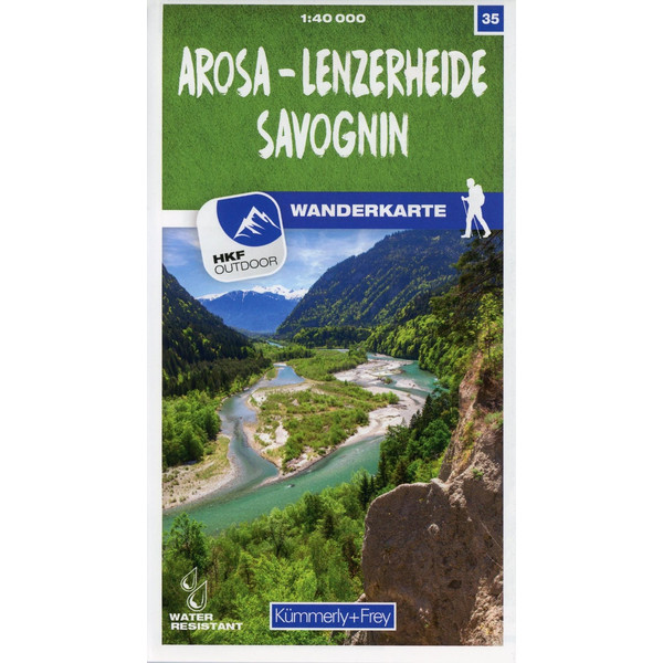 Arosa - Lenzerheide - Savognin 35 Wanderkarte 1:40 000 matt laminiert - Wanderkarte